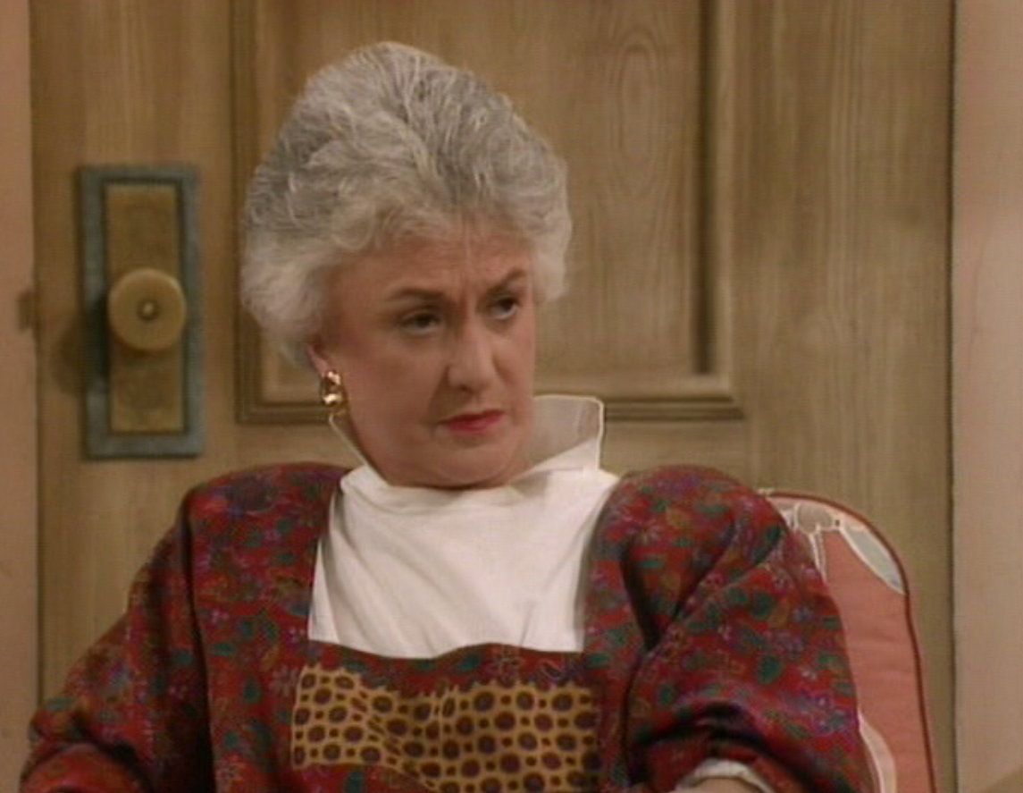 Someone not blanche gets laid the golden girls reviewed by for Why did bea arthur leave golden girls